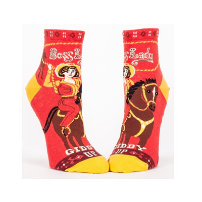 Womens Ankle Socks - Boss Lady