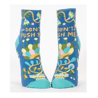 Womens Ankle Socks - Don't Push Me