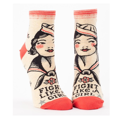 Womens Ankle Socks - Fight Like A Girl