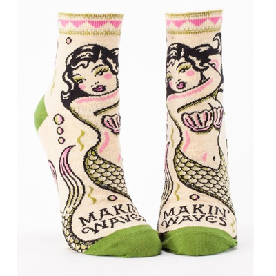 Womens Ankle Socks - Makin' Waves