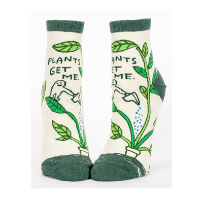 Womens Ankle Socks - Plants Get Me