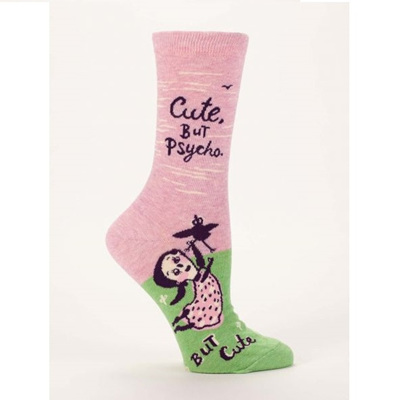 Women's Socks - Cute But Psycho