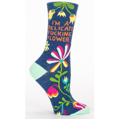 Women's Socks - Delicate F*#king Flower