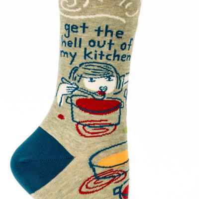 Womens Socks - Get the Hell Out of My Kitchen