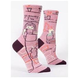 Womens Socks - Go Away, Introverting