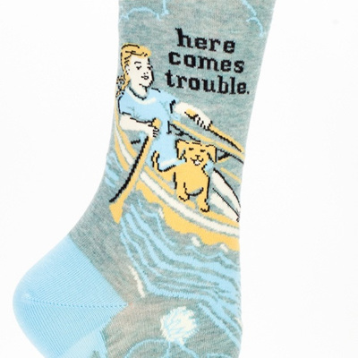 Womens Socks - Here Comes Trouble