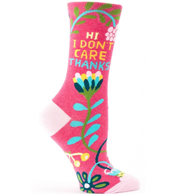 Womens Socks - Hi, I Don't Care