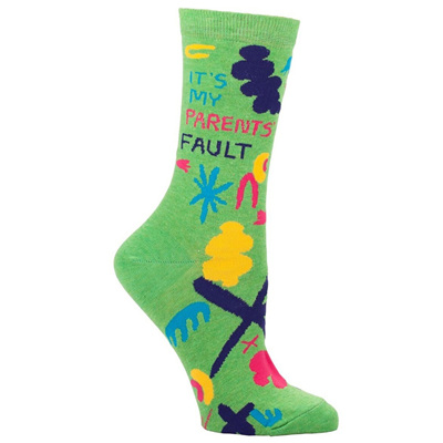 Women's Socks - Its My Parents Fault