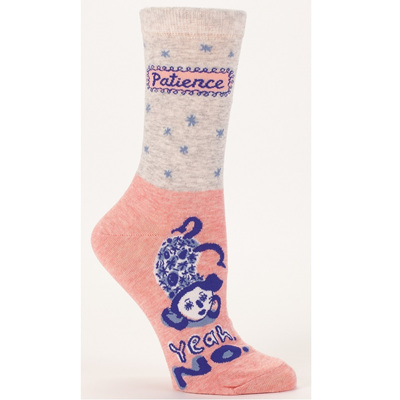 Women's Socks - Patience, Yeah No