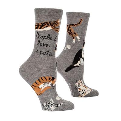 Womens Socks - People I Love: Cats