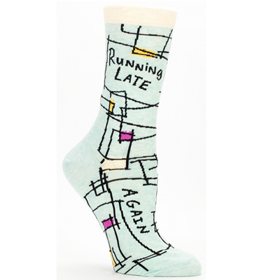 Women's Socks - Running Late, Again