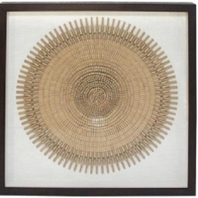 Wood Block Art In Dark Brown Frame