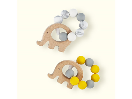 Wood Silicone Teether