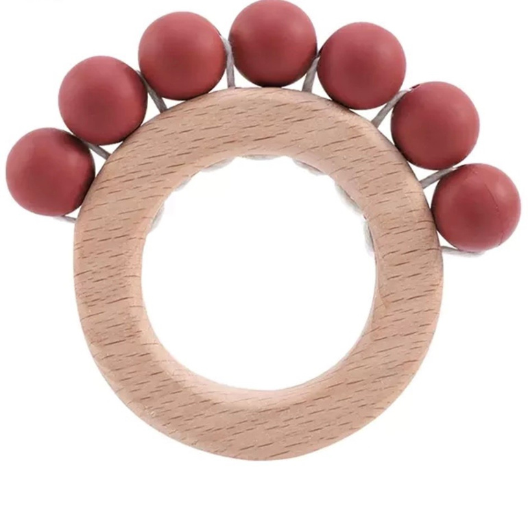 Wood & Silicone Teether - Terracotta