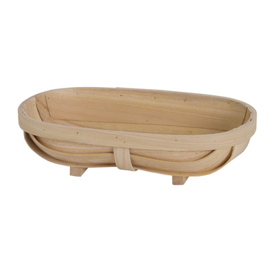 Wood Woven Bowl - Oval