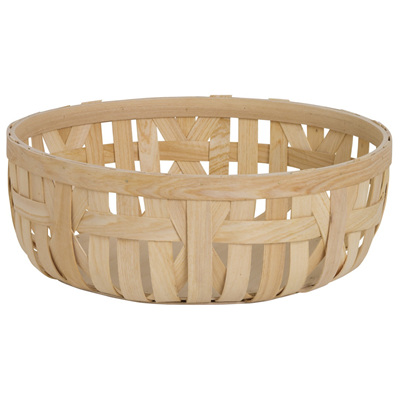 Wood Woven Bowl - Round