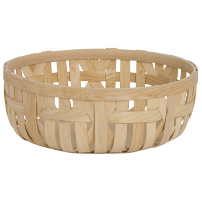 Wood Woven Bowl Round
