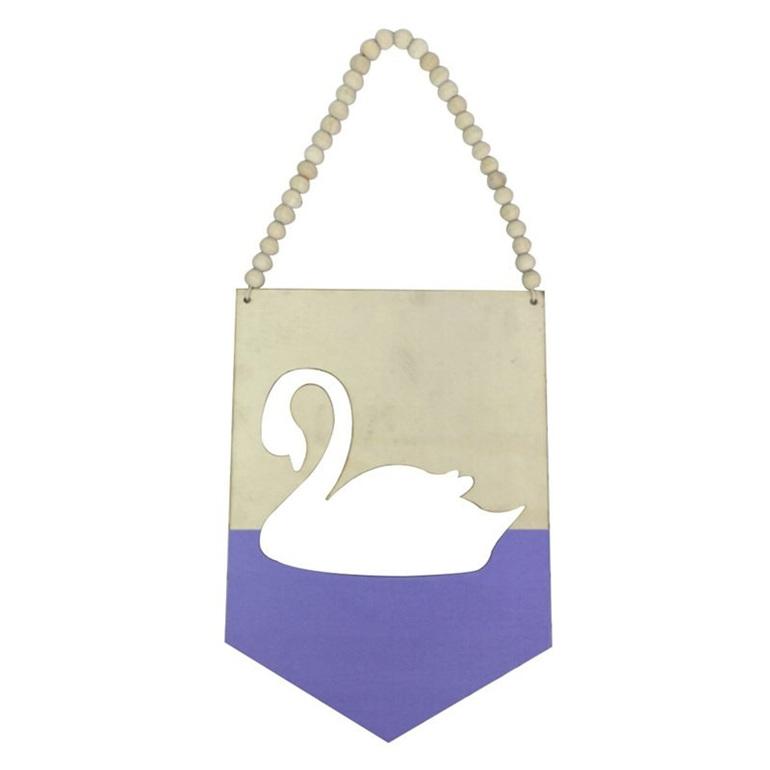 Wooden Beaded Swan Banner