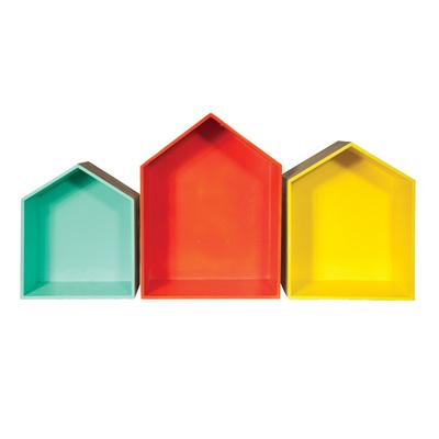 Wooden House Box Orange