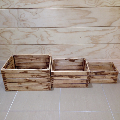 Wooden Indo Crate - Natural