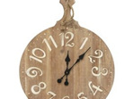 Wooden Pantry Clock - Natural & White 64.5x50cmh