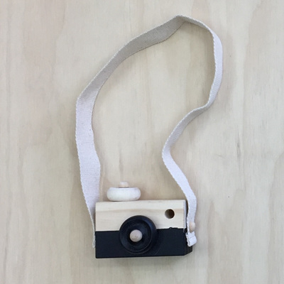 Wooden Play Camera - Black