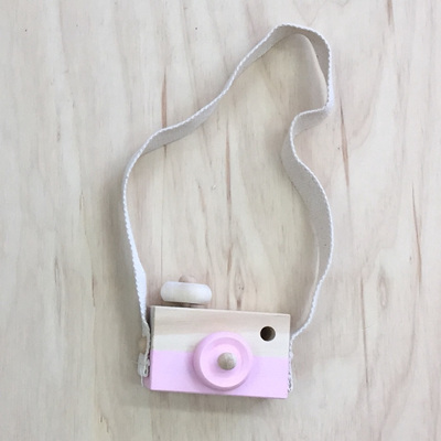 Wooden Play Camera - Pink