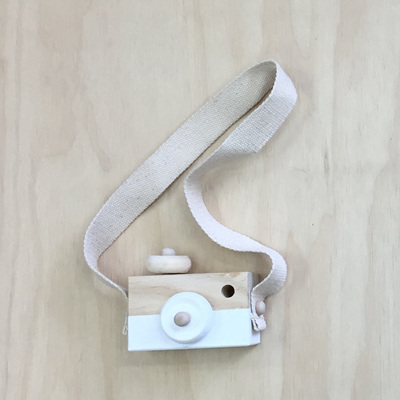 Wooden Play Camera - White