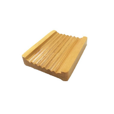 Wooden Ribbed Soap Dish