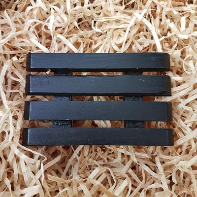 Wooden Soap Dish - Black