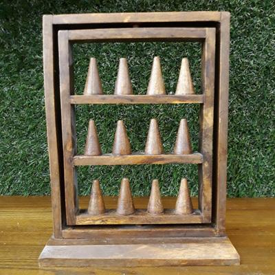 Wooden Swivel Ring Display