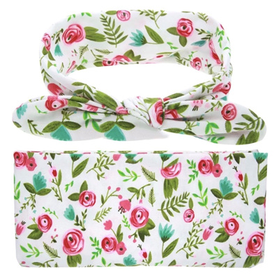 Wrap & Headband Set - Floral Bud