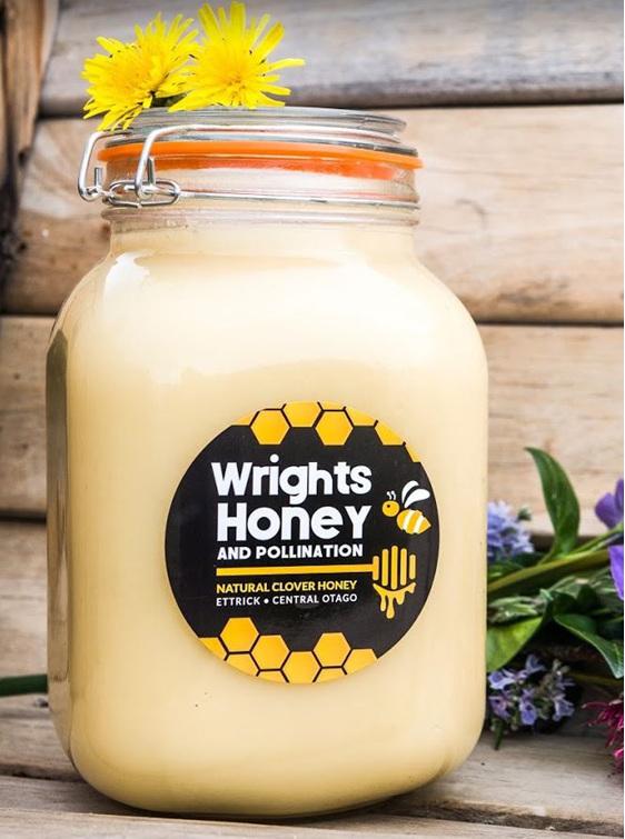 WRIGHTS CREAMED HONEY GLASS JAR 1.2KG