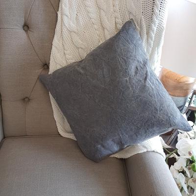 Yashvi Cushion - Acid Spot Wash - Charcoal