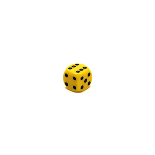 Yellow and Black Six Sided Dice (12mm)