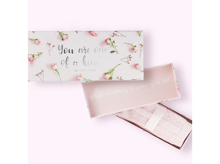"""""""You are one of kind"""" Gift box with 1 pair of lush socks"""