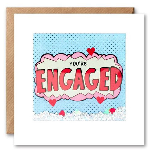 You're Engaged Shakies Card