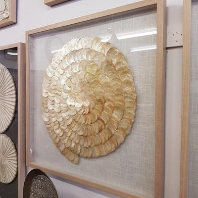Zabrina Framed Shell Art - Mother Of Pearl