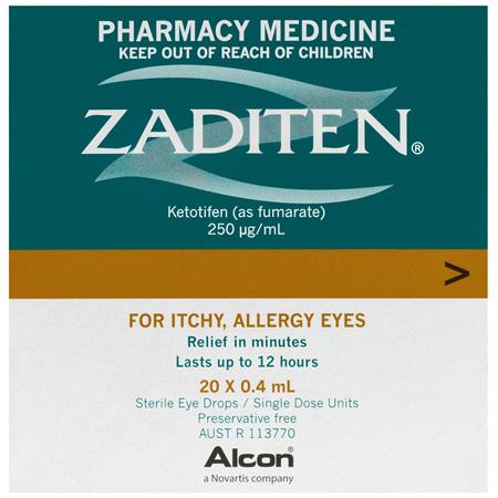 Zaditen Sterile Eye Drops 20 x 0.4mL