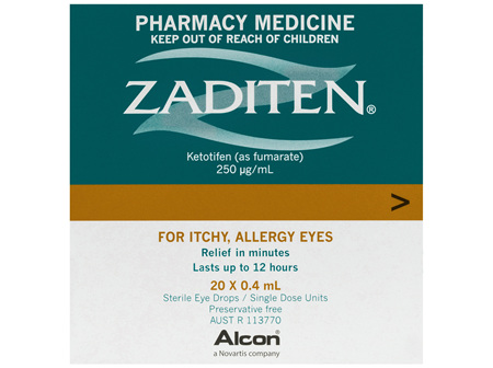 Zaditen Sterile Eye Drops 20 x 0.4mL