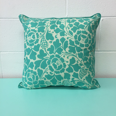 Zen Cushion Floral - Aqua