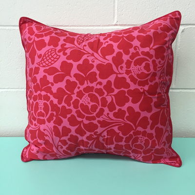 Zen Cushion Floral - Pink/Red