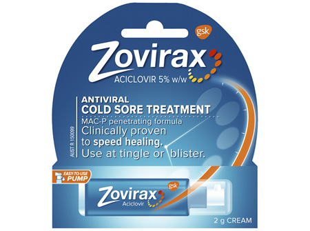 Zovirax Cold Sore Cream Pump 2 g