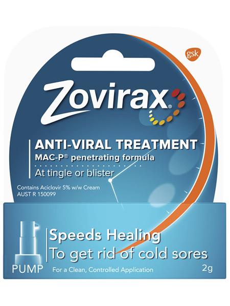 Zovirax Cold Sore Cream Pump 2 g