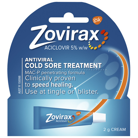 Zovirax Cold Sore Cream Tube 2 g