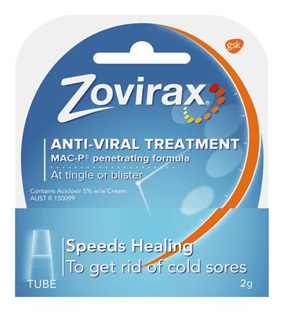 Zovirax Cold Sore Cream Tube 2g