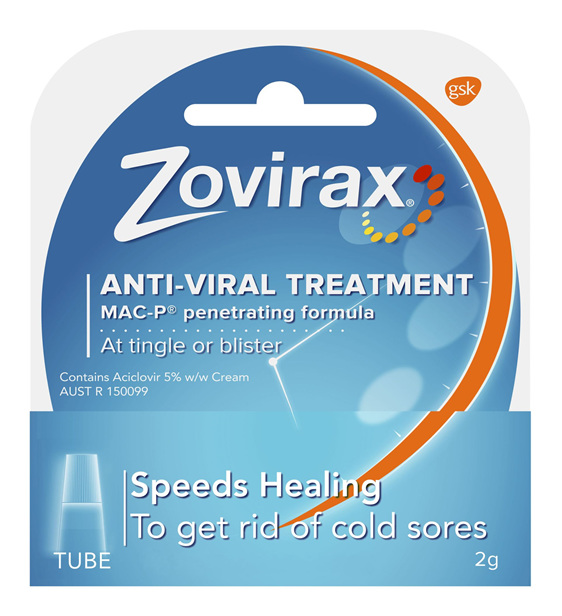Zovirax Cold Sore Cream Tube 2g