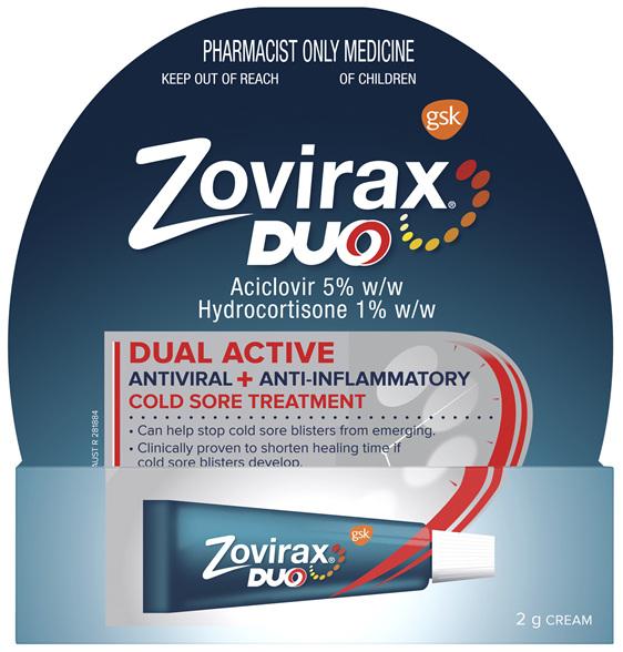 Zovirax Duo Cold Sore Treatment Cream Tube 2 g