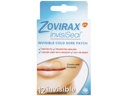 Zovirax® invisiSeal™ Cold Sore Patch 12 Pack