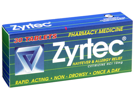 Zyrtec 30 Tablets